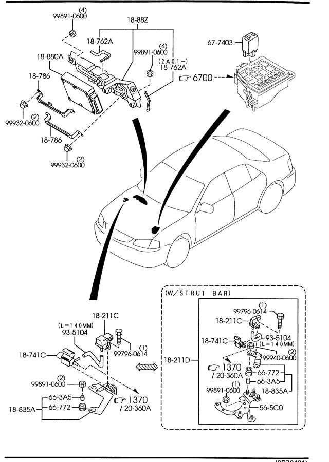 2002 Mazda Protege 5 Switch, inhibitor. Supplier