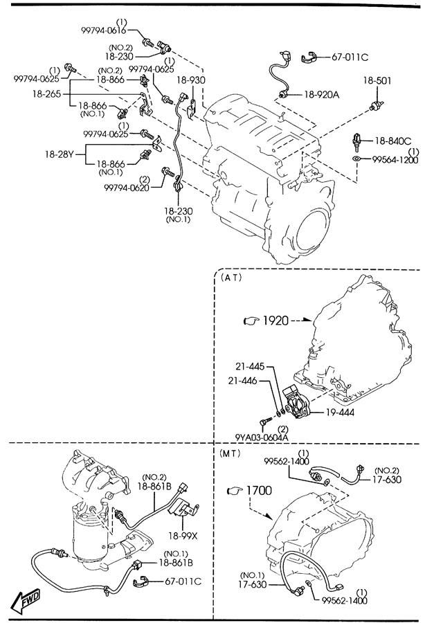 [DIAGRAM] 1999 Mazda Protege Engine Diagram FULL Version
