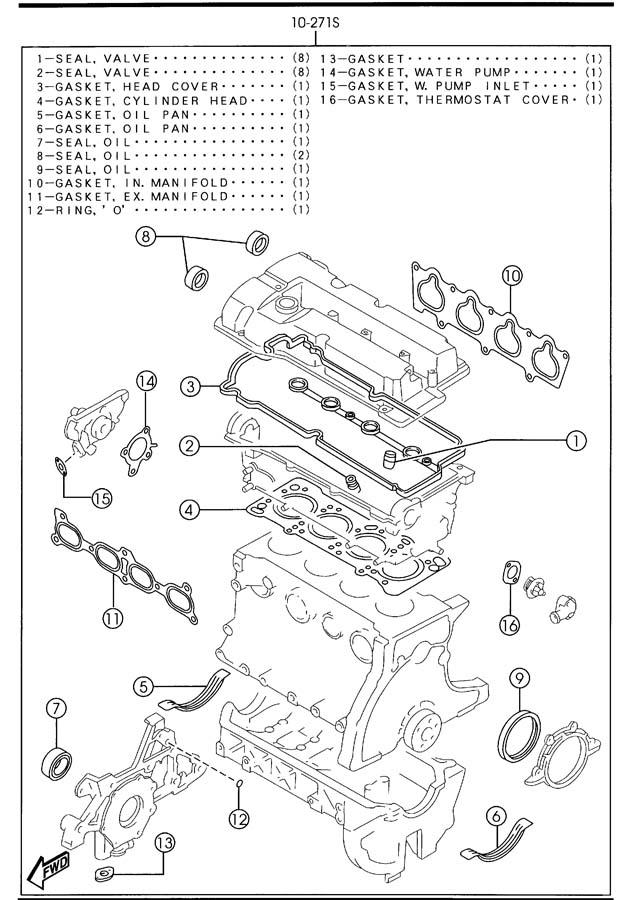 2003 Mazda Protege Engine Gasket Set. Gasket. Set. Engine