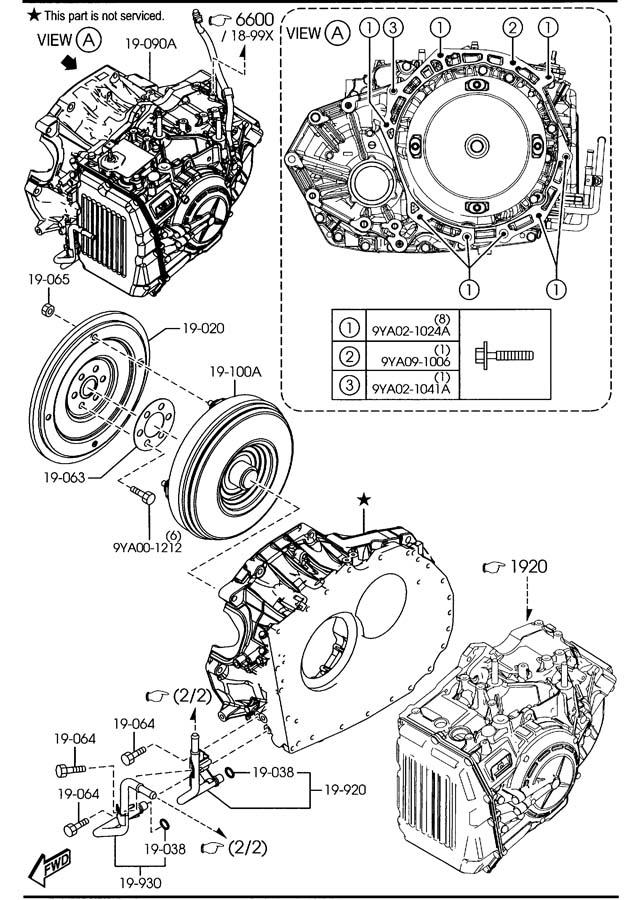 Mazda CX-7 AUTOMATIC TRANSMISSION TORQUE CONVERTER, OIL