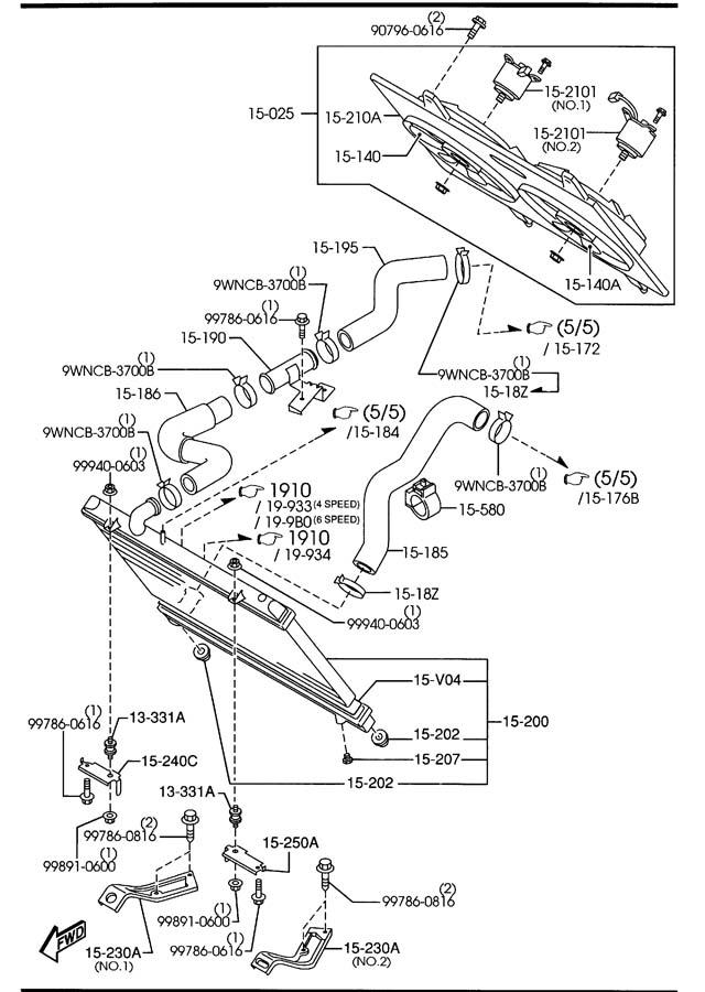 Mazda COOLING SYSTEM