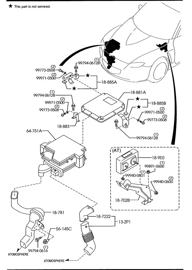 2004 Mazda RX-8 Sensor, oxygen (o2). Sensors