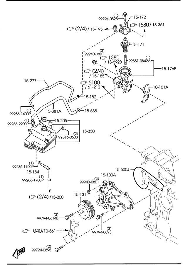 2011 Mazda RX-8 Engine Coolant Thermostat. RX-8