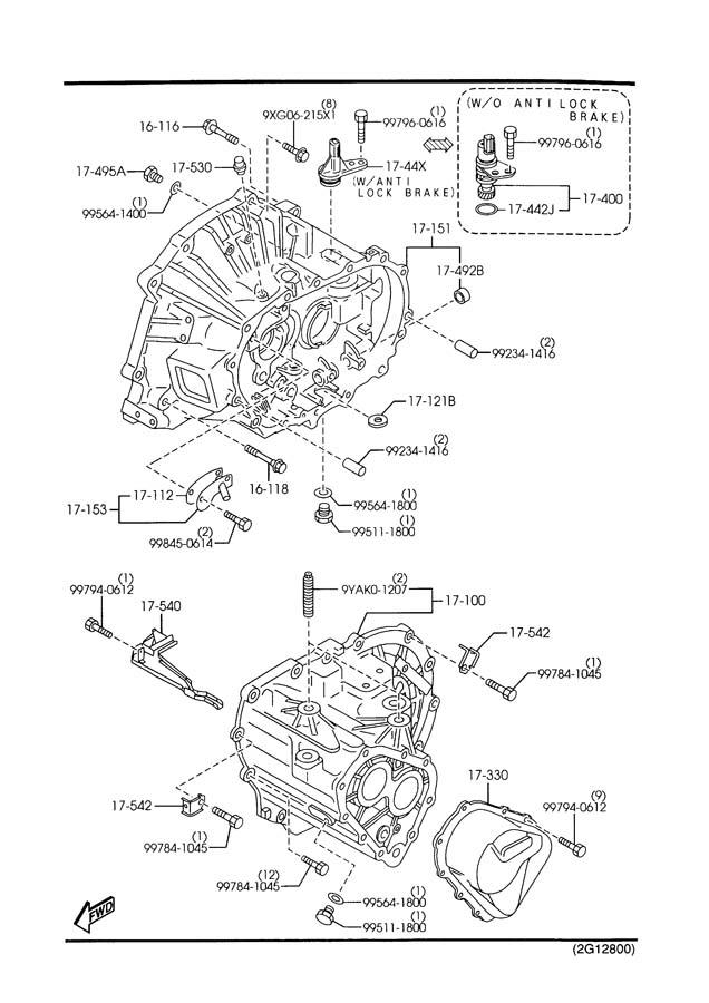 2003 Mazda Mazda 6 Alternator bolt. Alternator Bracket