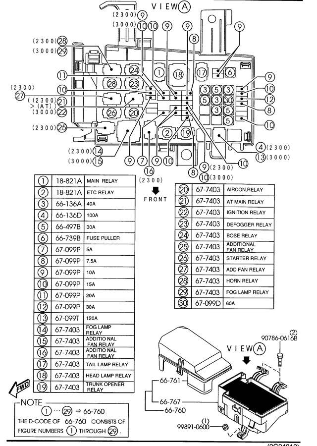 2003 Mazda Mazda 6 Relay, circuit. Opening, etc, level
