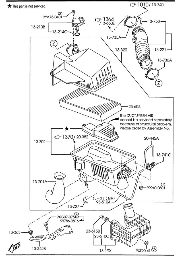 Mazda 6 Parts Diagram. mazda skirt r front air d