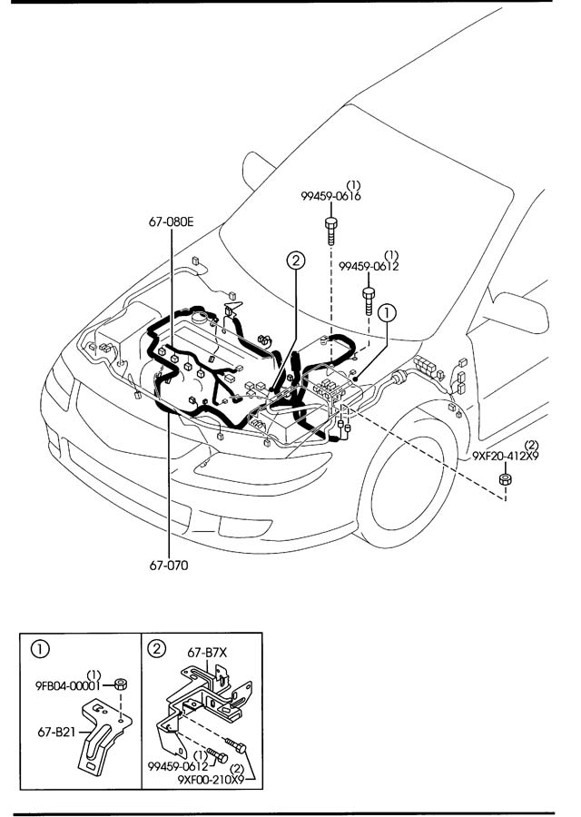 2006 Mazda 6 Engine Wiring Harness : 34 Wiring Diagram