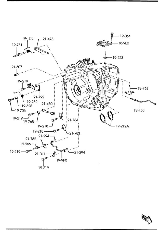 Mazda AUTOMATIC TRANSMISSION MANUAL LINKAGE SYSTEM (6-SPEED)
