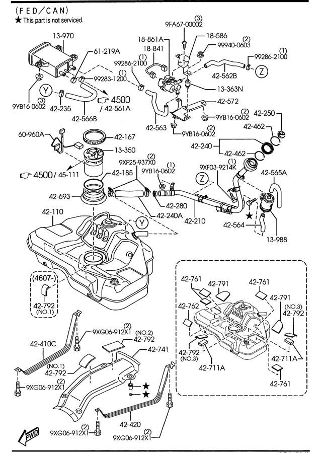 Mazda Mazda 6 Pump, fuel (w/gauge ). Wgauge, federalcanada