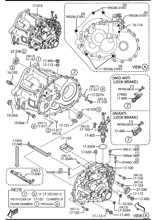 2006 Mazda Mazda 6 Manual transmission cpt. Transaxle