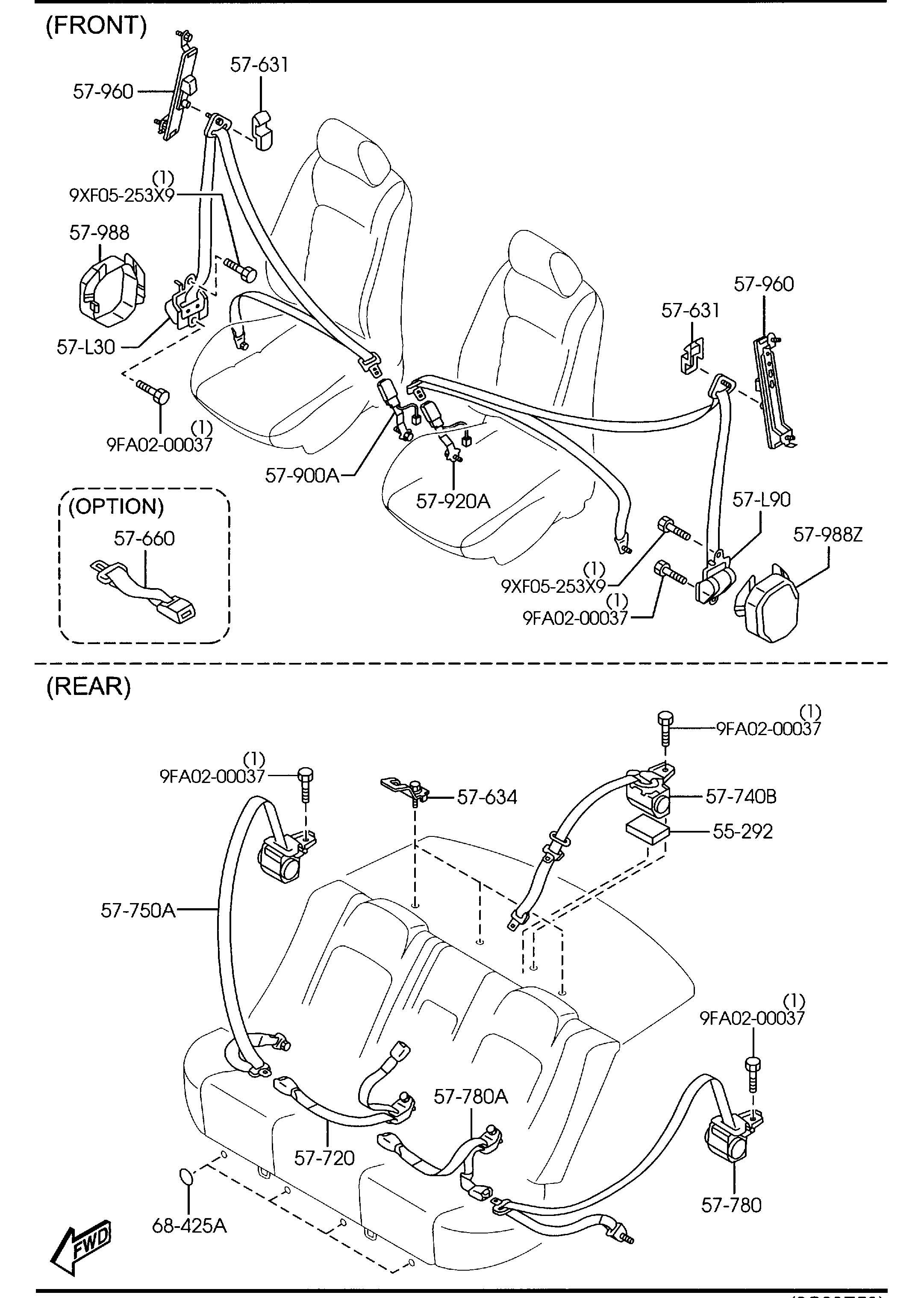 Mazda Mazda 6 Belt B Right R Pretensioner