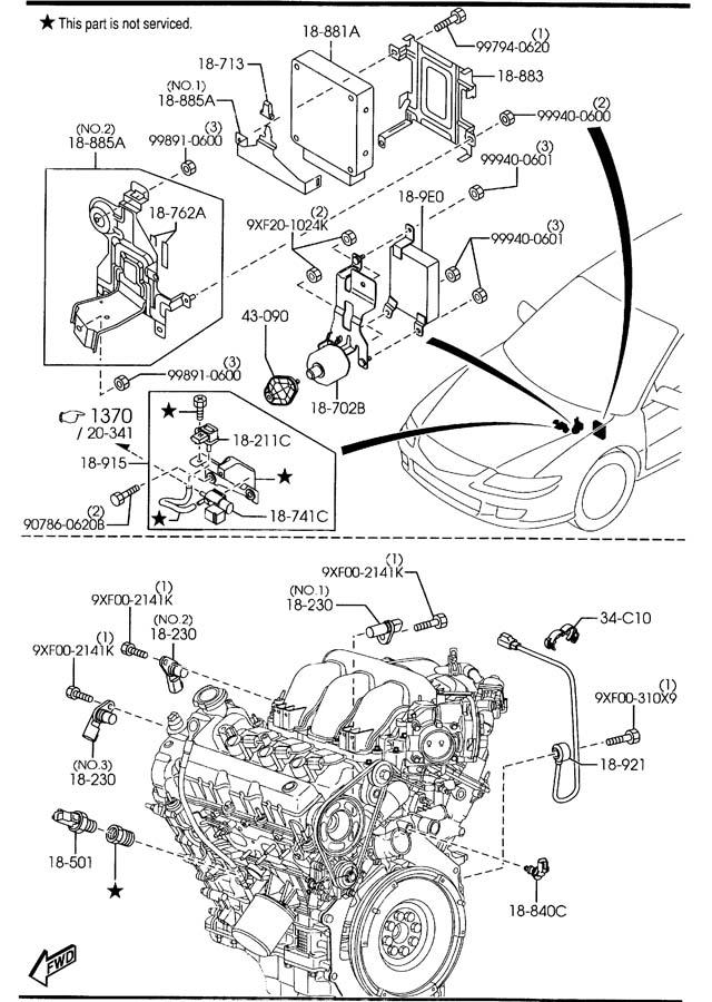2000 Mazda Millenia 2 5 Engine Diagram. Mazda. Auto Wiring