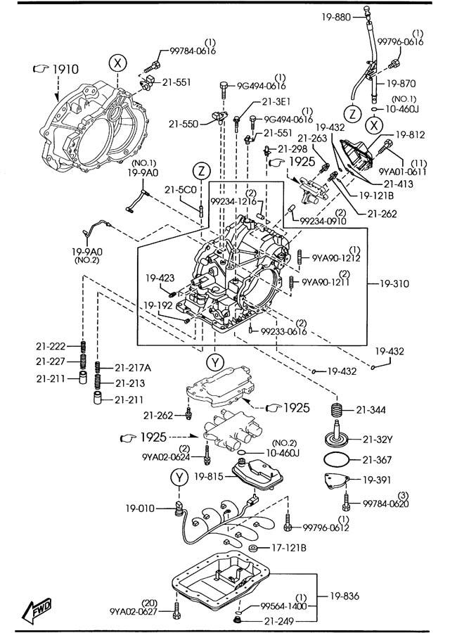 2006 Mazda Mazda 3 Generator, pulse. Mitsubishi