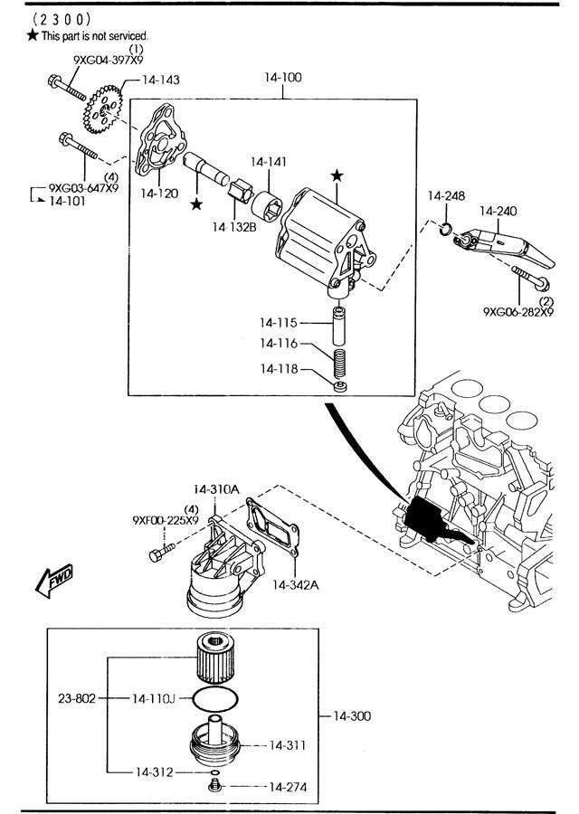 2005 Mazda Oil filter. Paper, typesogefi, hybrid