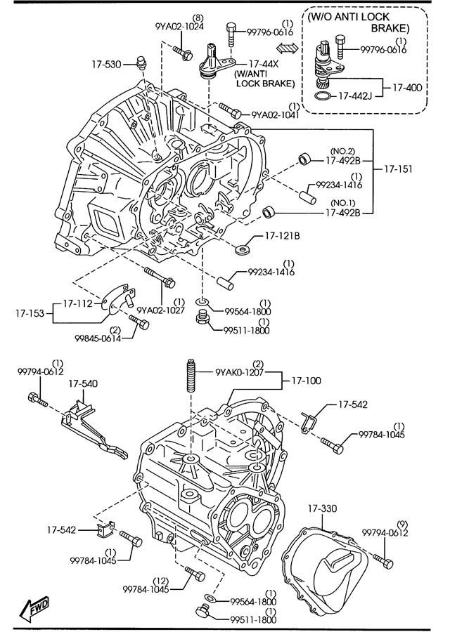 Service manual [2007 Mazda Mazda3 Manual Transmission Hub