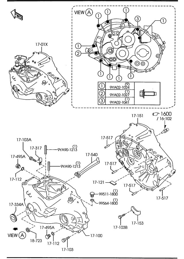 Mazda MANUAL TRANSMISSION CASE (6-SPEED)