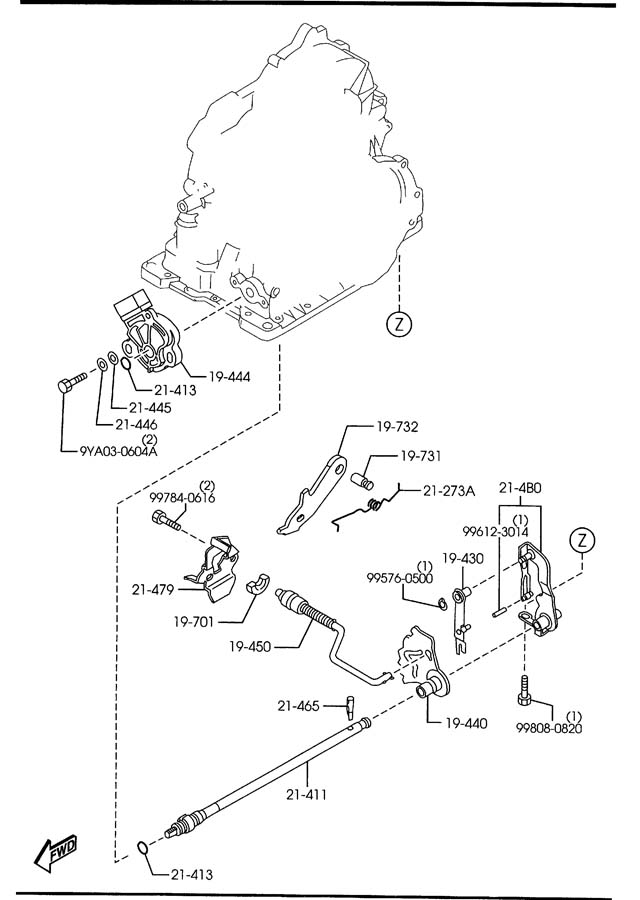 2008 Mazda Mazda 3 Automatic Transmission Gear Position