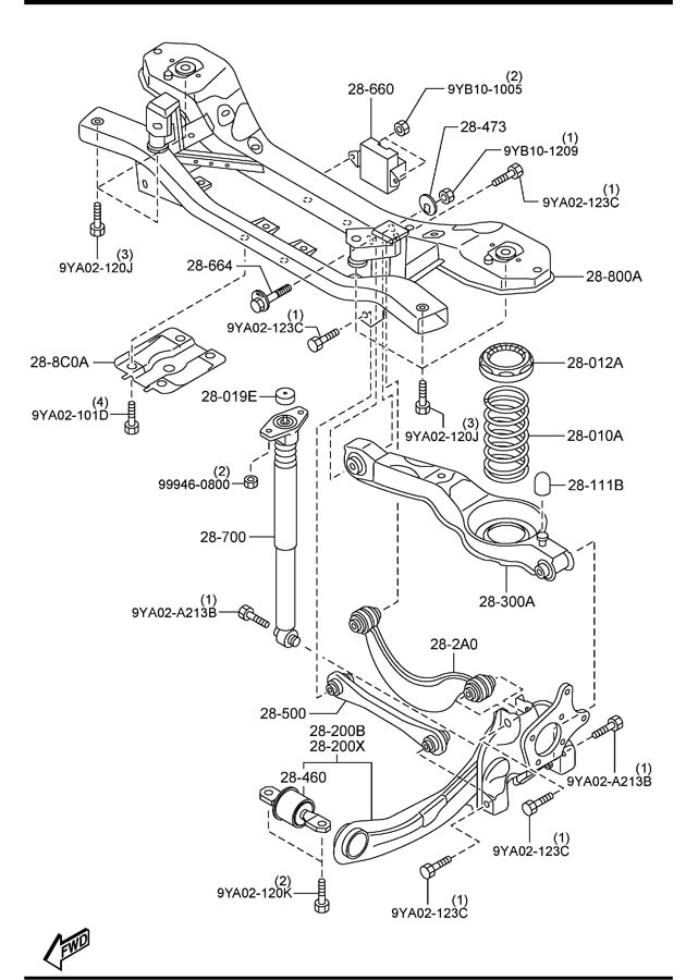Mazda 5 REAR SUSPENSION MECHANISMS