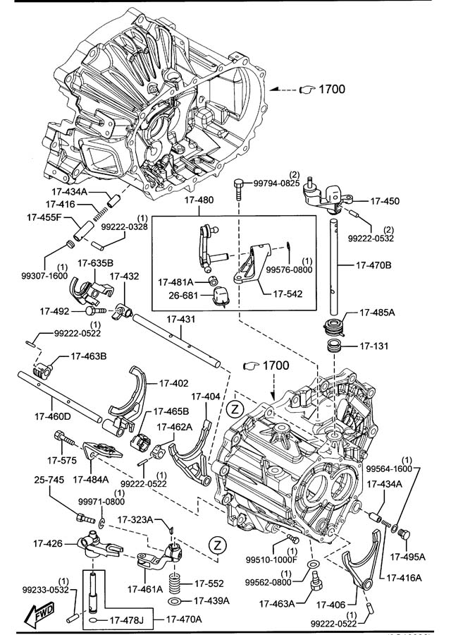 Mazda MANUAL TRANSMISSION CHANGE CONTROL SYSTEM