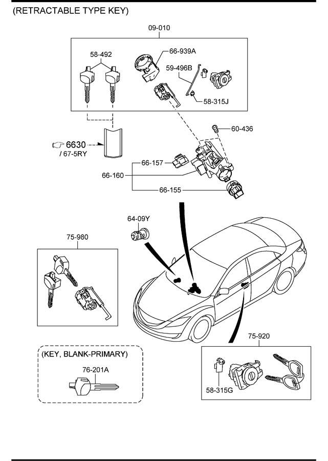 Mazda Mazda 6 Ignition Immobilizer Antenna. Mazda6; w/o