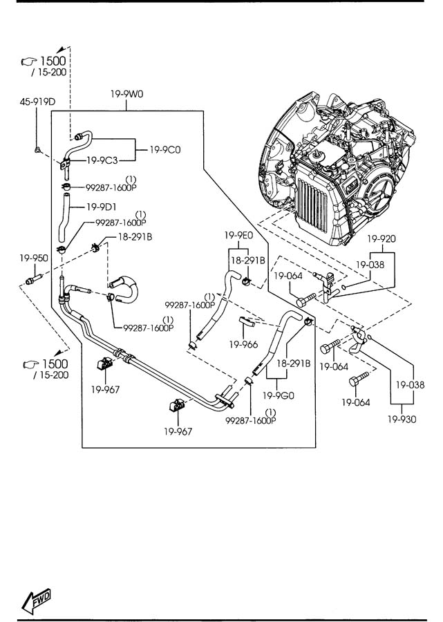 Mazda 6 AUTOMATIC TRANSMISSION TORQUE CONVERTER, OIL PUMP