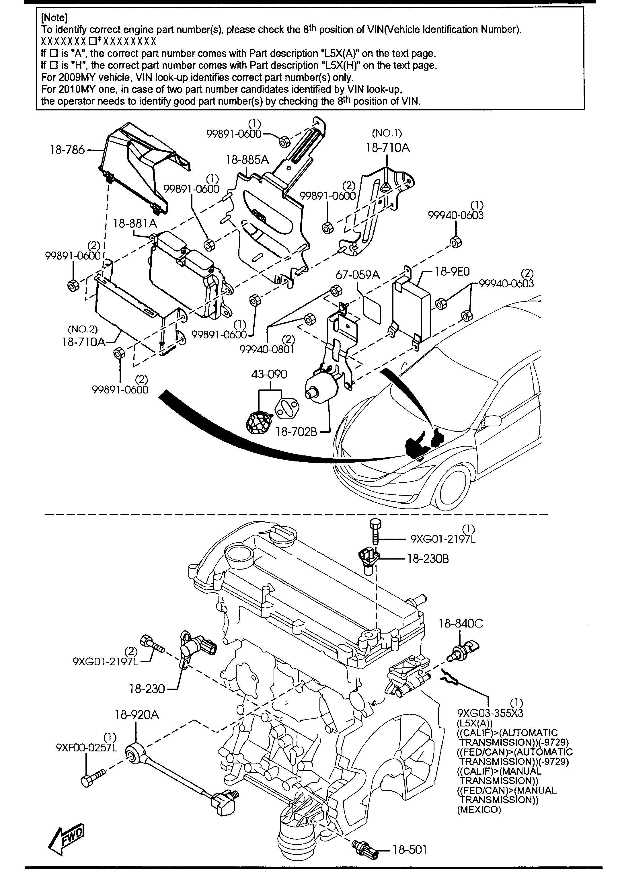 Mazda Mazda 6 Sensor Temp