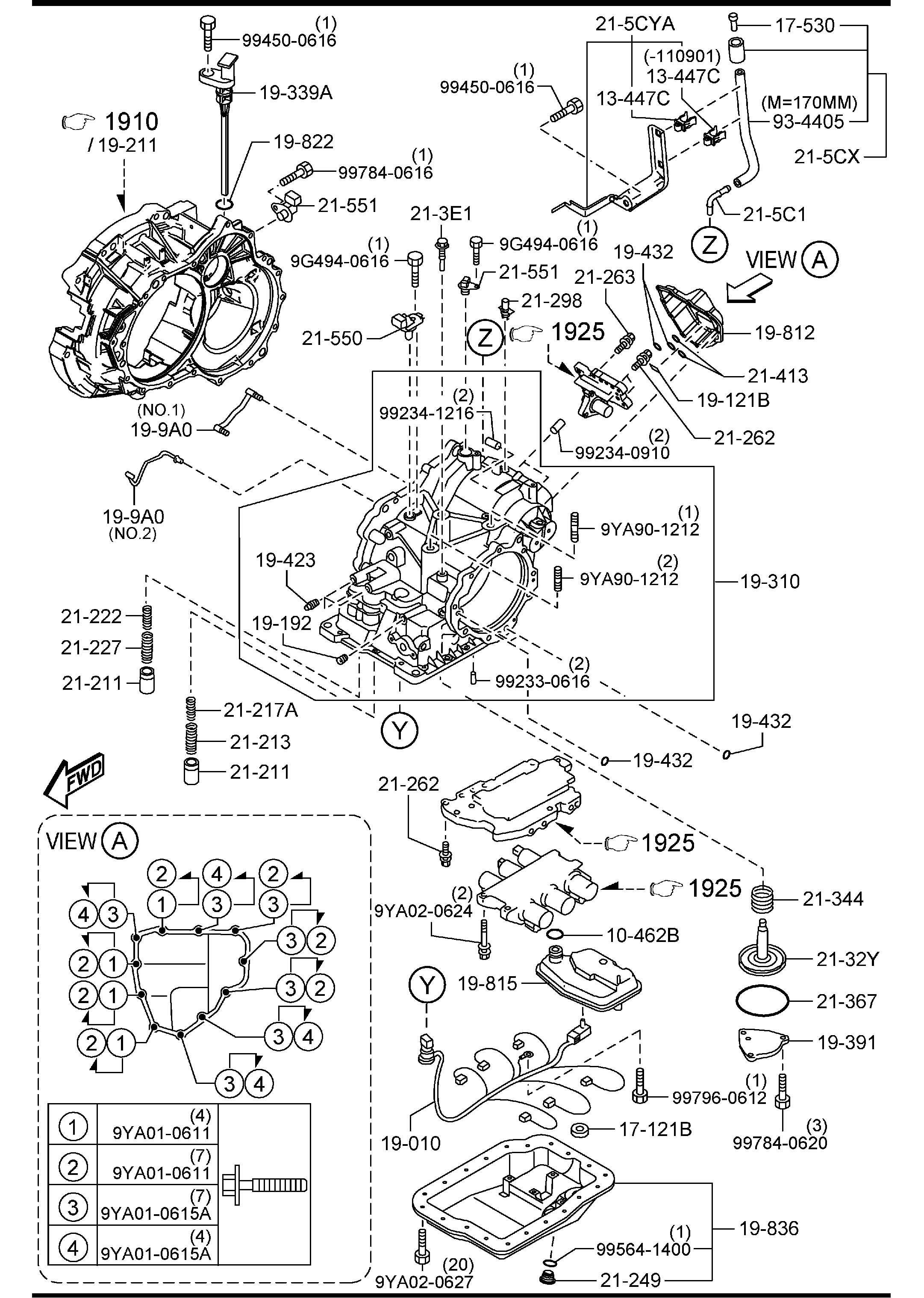 Mazda Mazda 6 Strainer Oil Transaxle