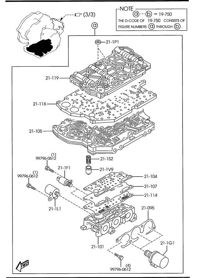 Mazda Mazda 3 Automatic Transmission Control Solenoid