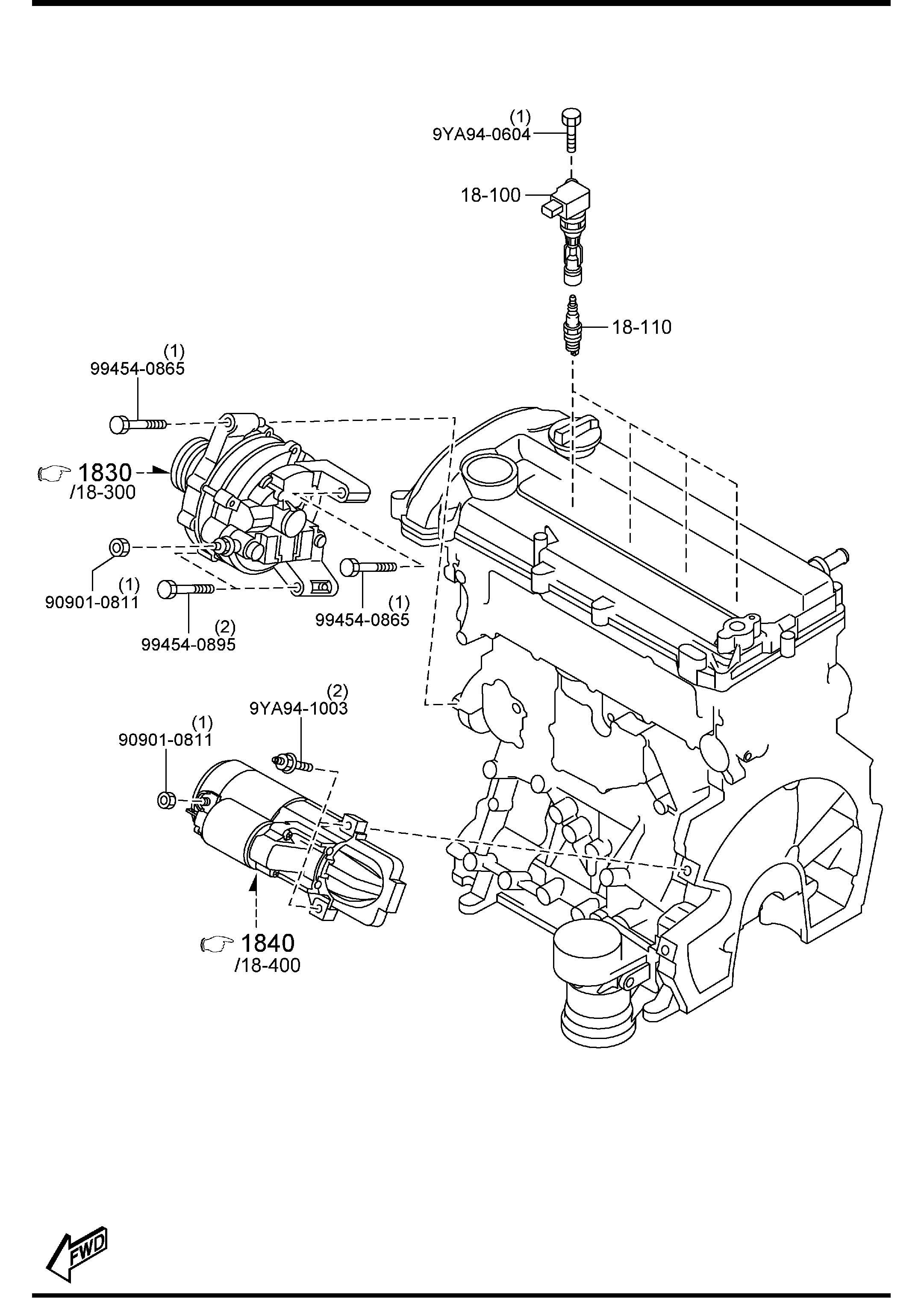 Mazda Mazda 3 Spark Plug Mar Logo