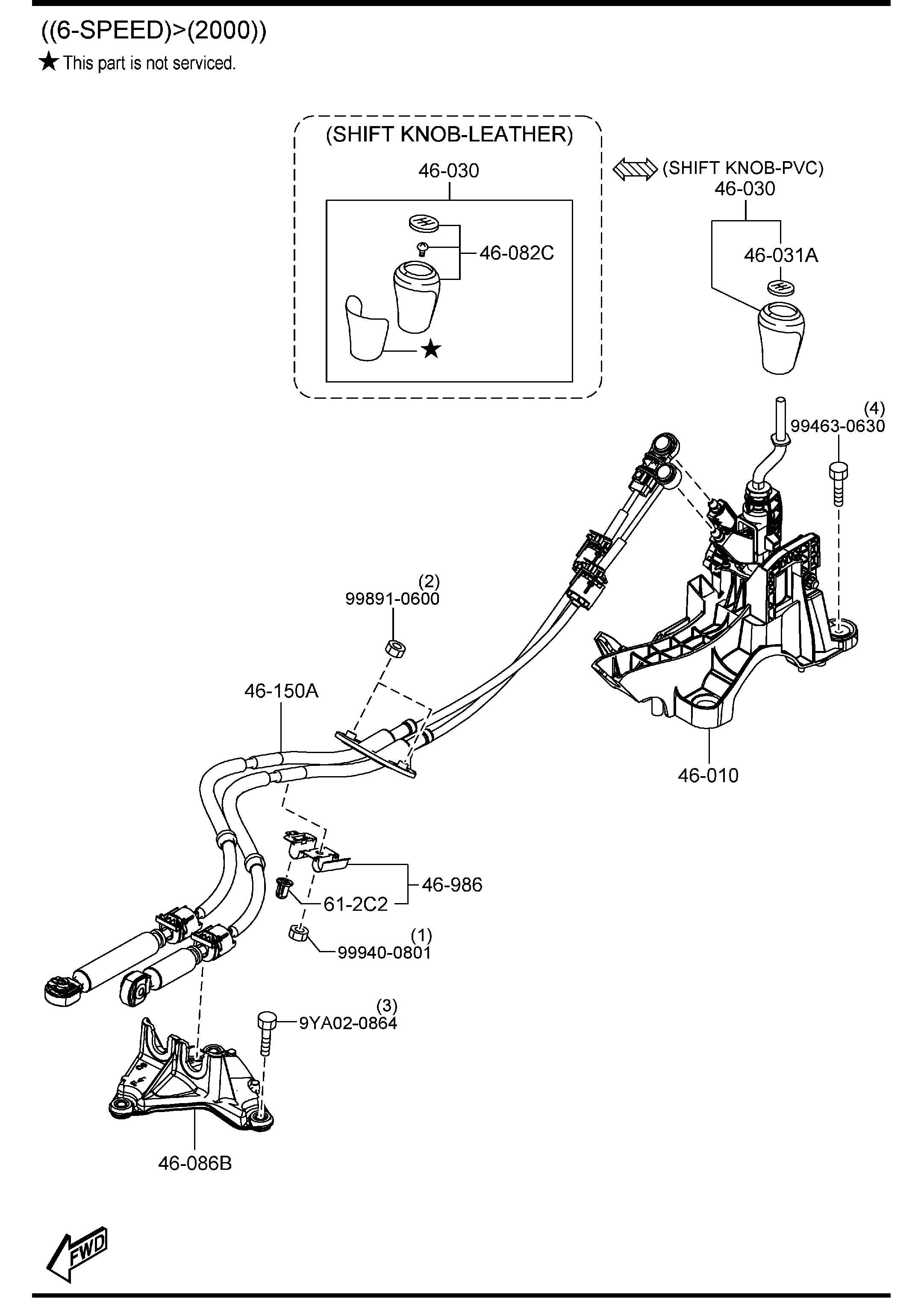 Mazda CHANGE CONTROL SYSTEM (MANUAL TRANSMISSION)
