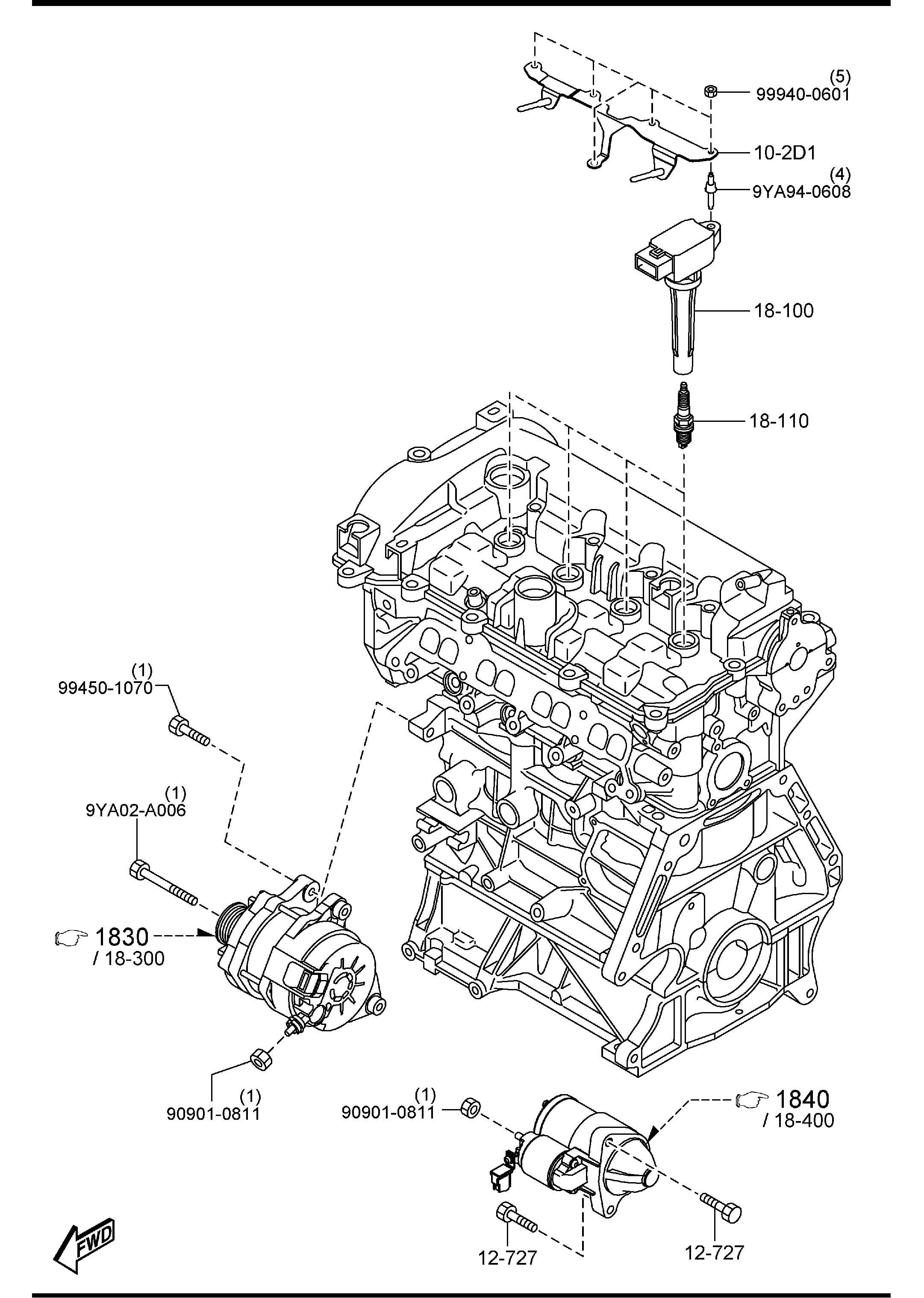 Mazda Mazda 3 Plug, spark ngk. Supplier, selection, denso