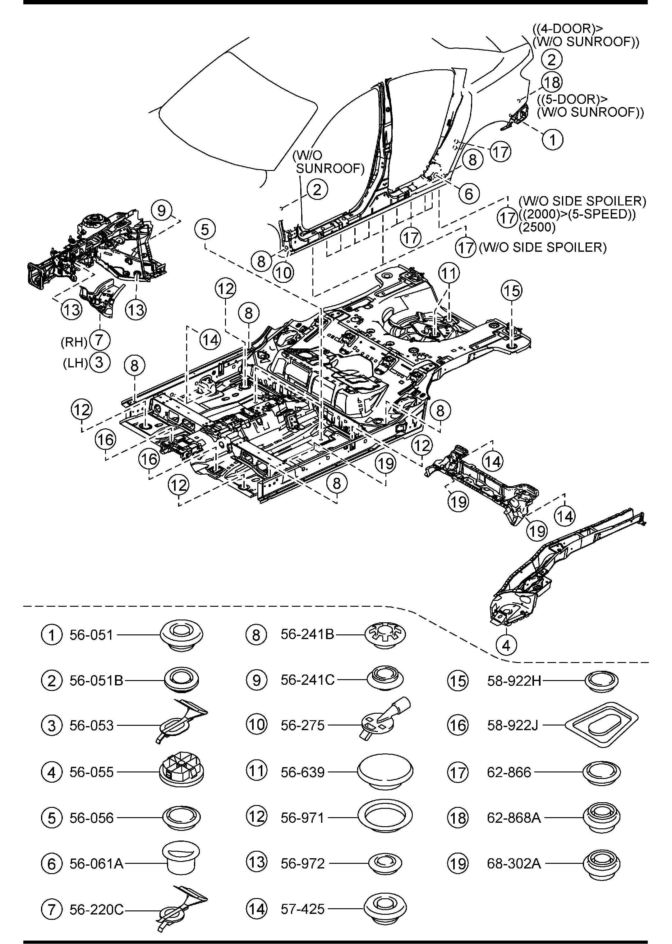 Mazda Mazda 3 Cover Hole Covers