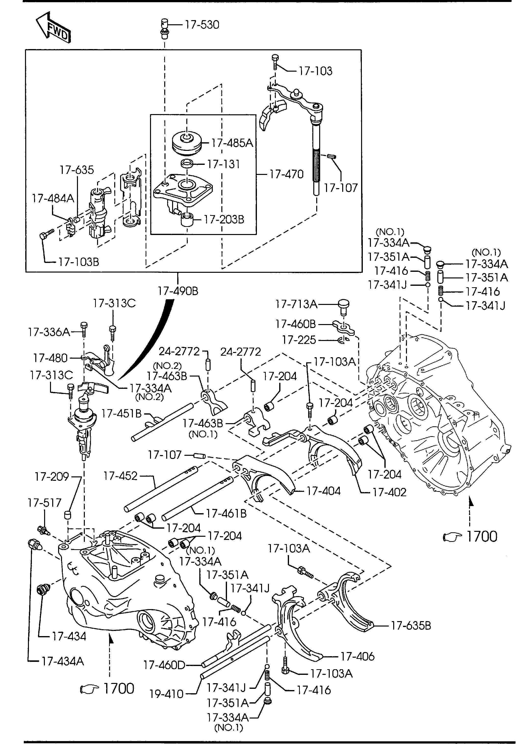 Mazda 3 MANUAL TRANSMISSION CHANGE CONTROL SYSTEM (6-SPEED