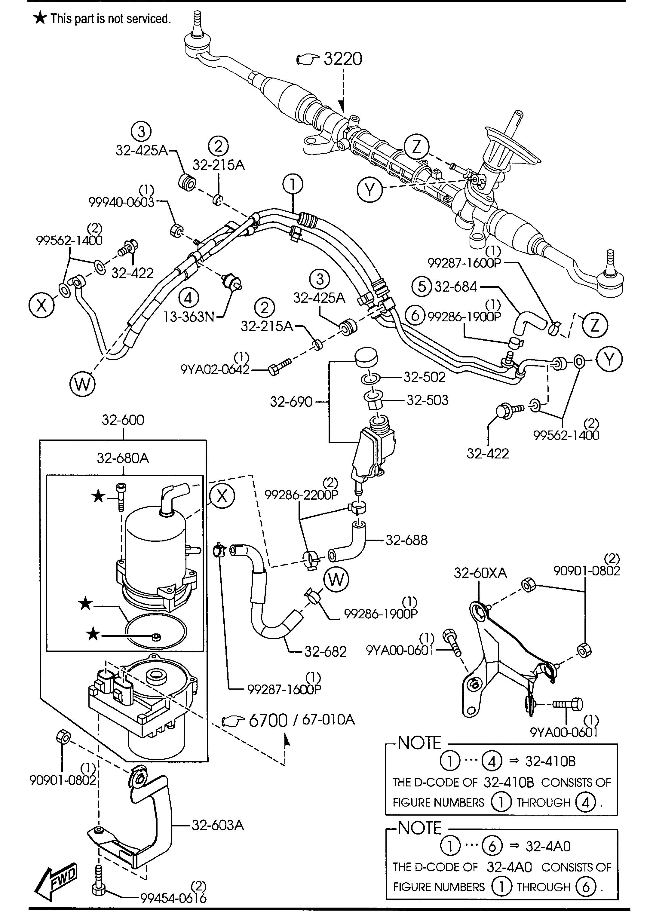 Mazda 3 POWER STEERING SYSTEM