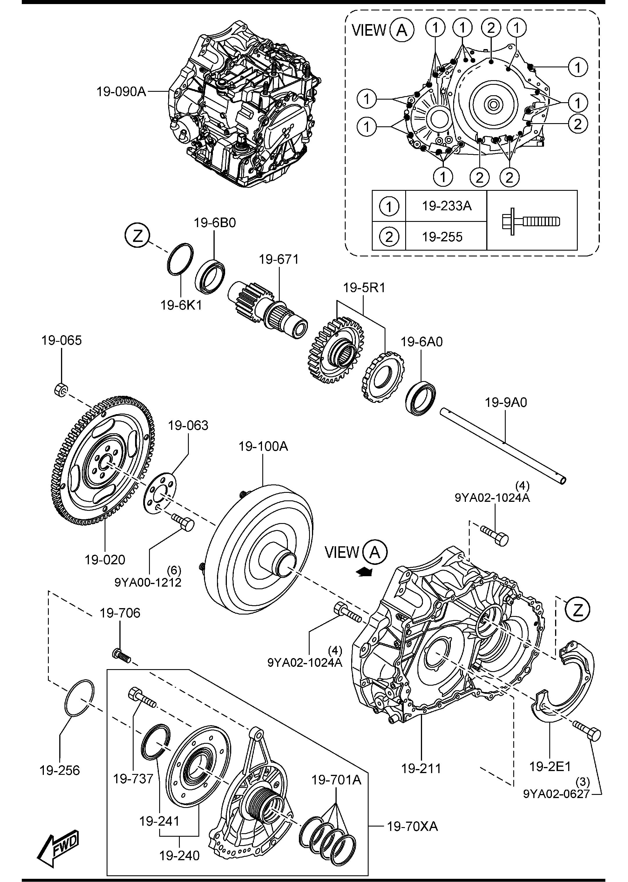 2014 Mazda AUTOMATIC TRANSMISSION TORQUE CONVERTER, OIL