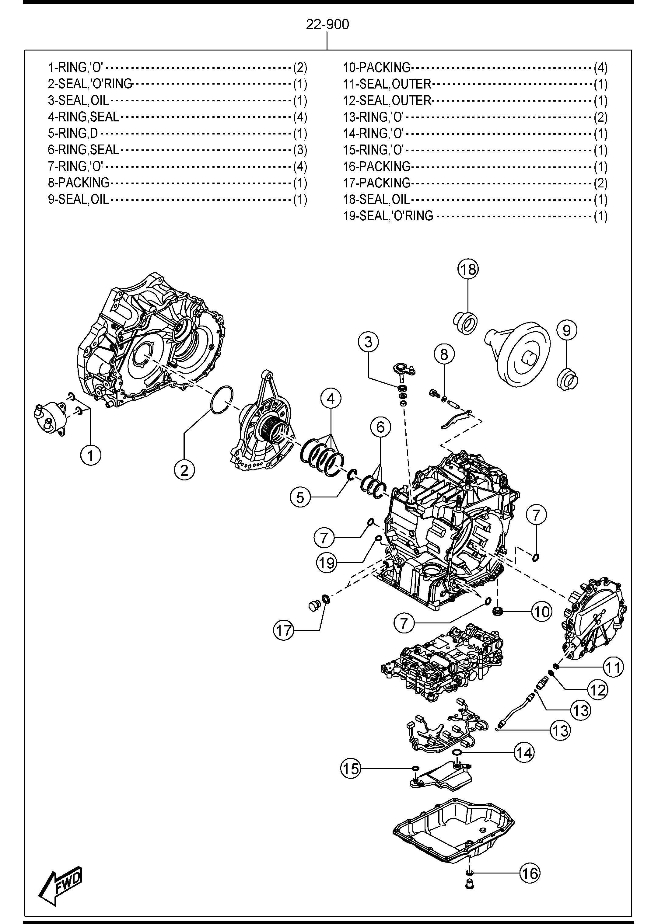 Mazda 3 AUTOMATIC TRANSMISSION GASKET & SEAL KIT (6-SPEED)