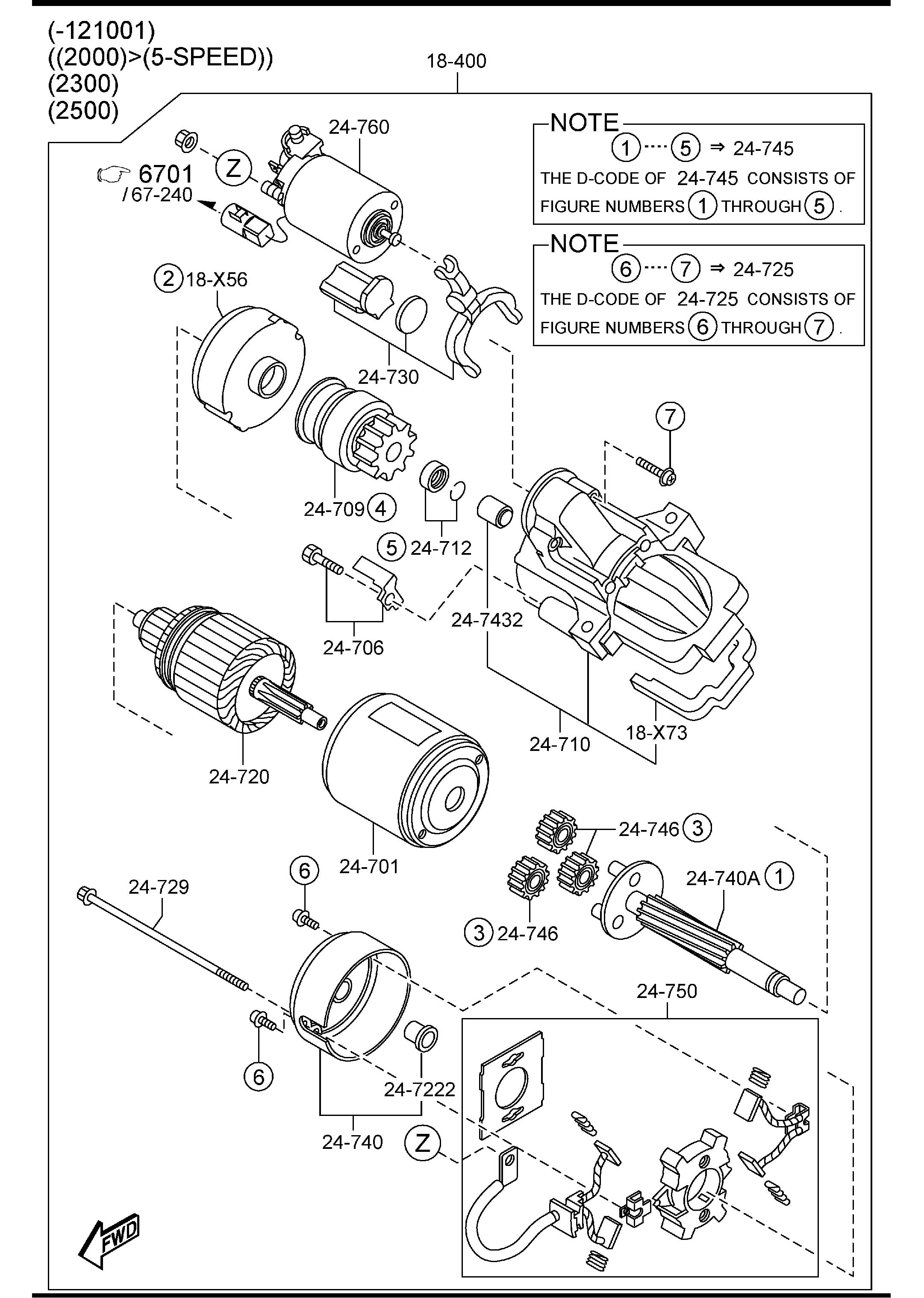 Mazda Mazda 3 Insulator Starter