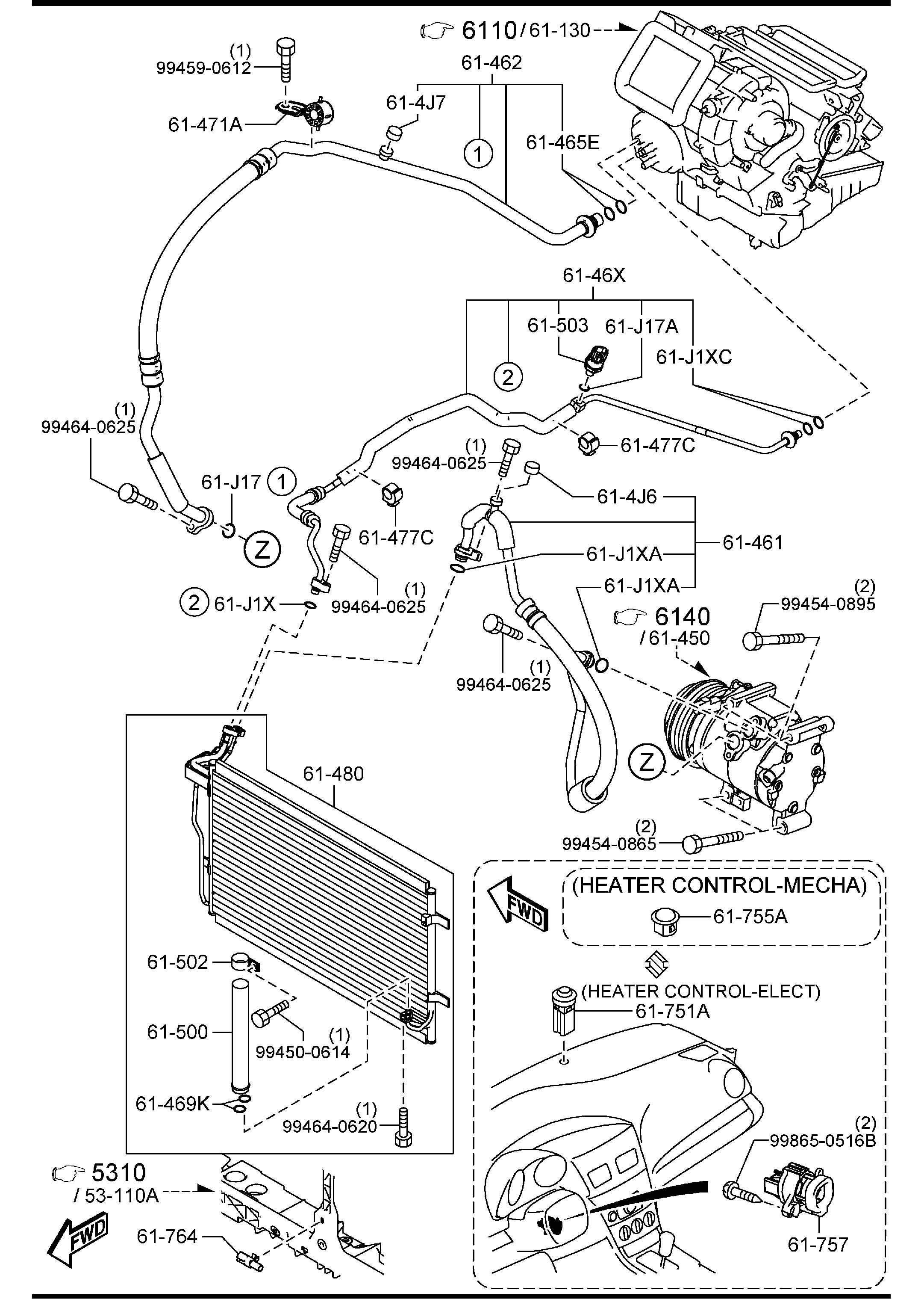Mazda Mazda 3 Condenser. Controlmecha, wpollen