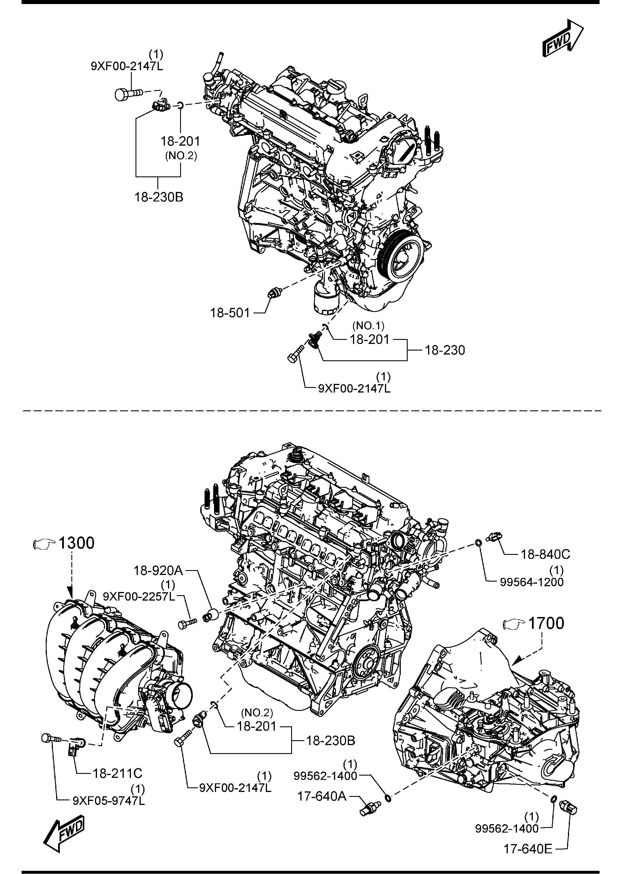 2012 Mazda Mazda 3 Oxygen Sensor (Front, Upper