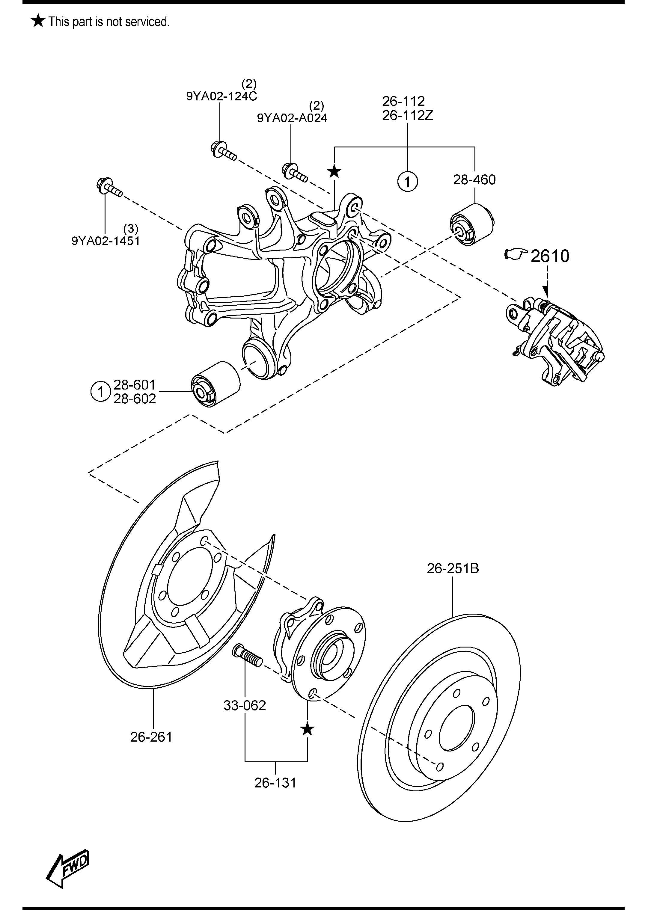 Mazda Mazda 6 Bearing Amp Hub Fwd