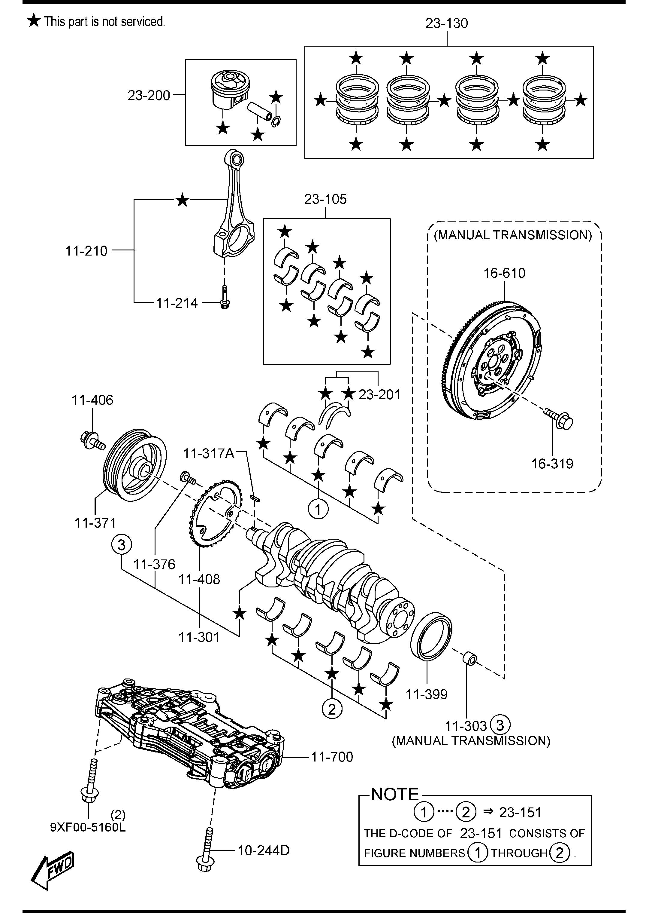 2470203 Crankshaft Flywheel And Alternator Diagram And Parts