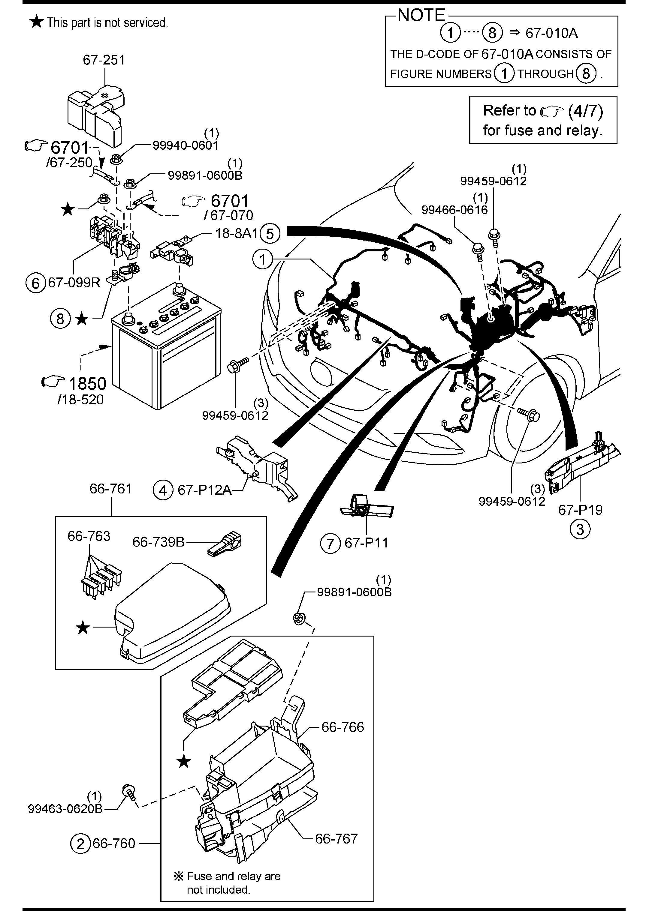 Service manual [1994 Mazda Mx 3 Digram For A Rear Floor