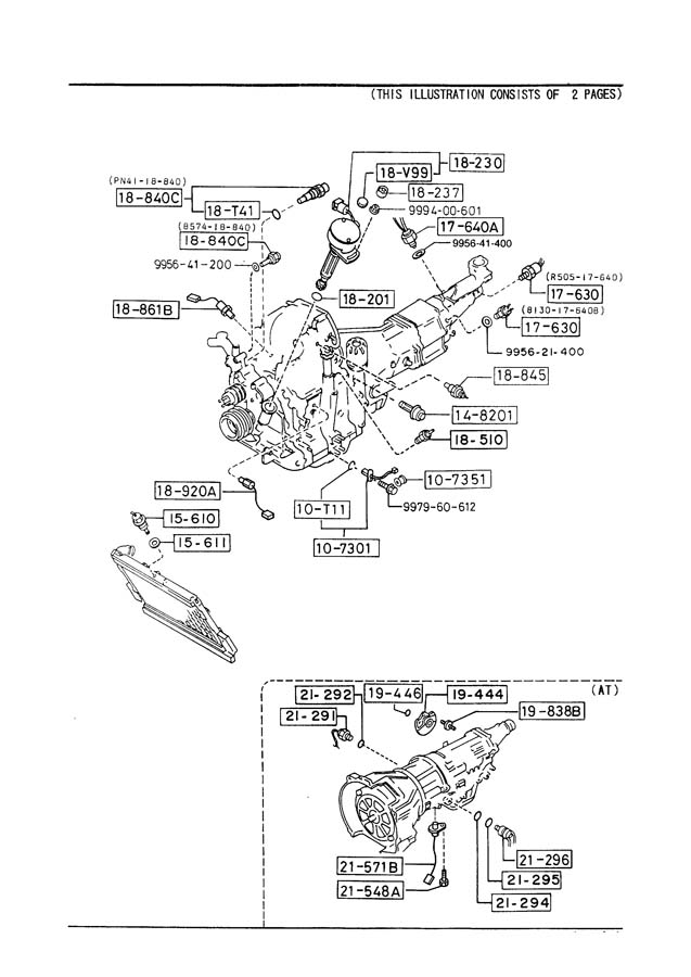 1989 Mazda RX-7 Engine Coolant Temperature Sensor