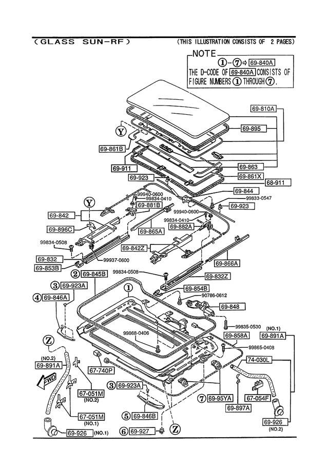 Service manual [How To Remove Sunroof Console 1995 Mazda