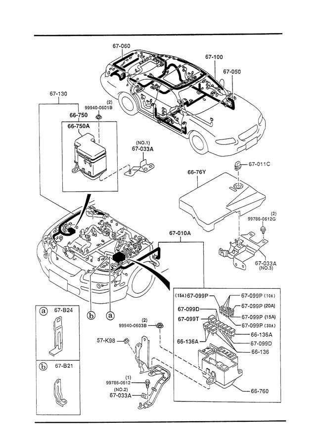 Mazda Millenia FRONT & REAR WIRING HARNESS (2300CC)