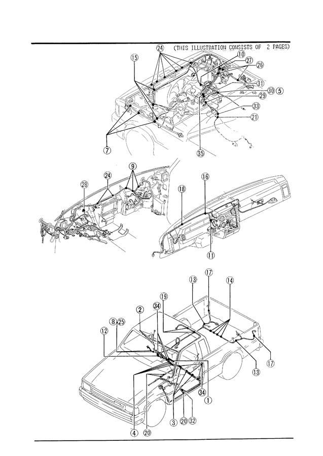 1987 Mazda B2000 Fuel Filler Door Release Cable Clip