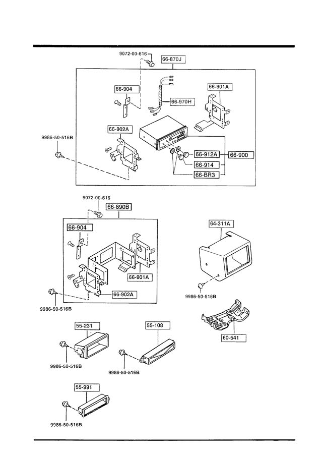 Mazda B2200 AUDIO SYSTEMS (RADIO & TAPE DECK)