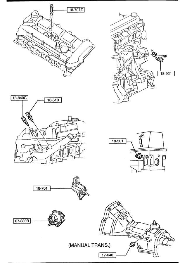 Mazda ENGINE SWITCHES & RELAY (2300CC)