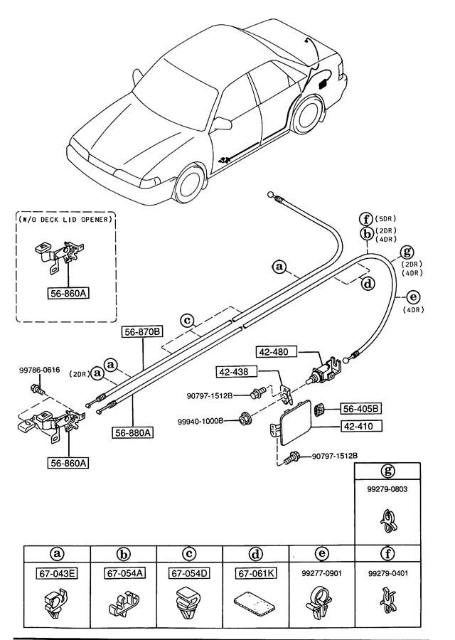 Mazda 626 FUEL LID OPENER