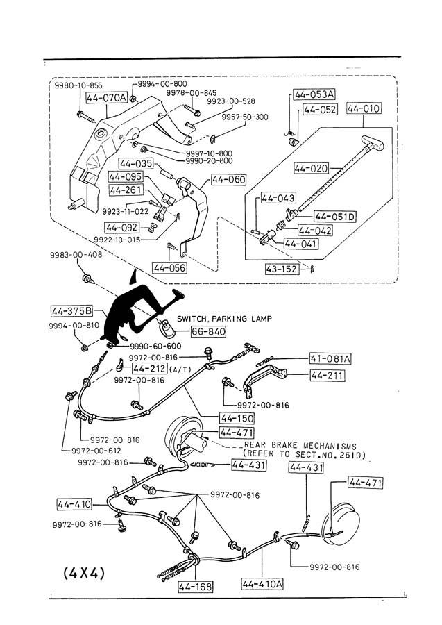 Mazda B2600 PARKING BRAKE SYSTEM (2600CC)